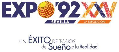 Logotipo exposicón 25 aniversario EXPO'92